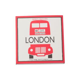 SQUARE MATCHBOXES LONDON BUS