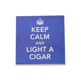 SQUARE MATCHBOXES KEEP CALM LIGHT A CIGAR