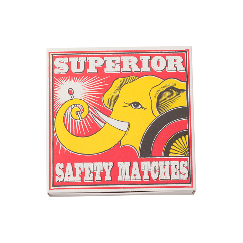 SQUARE MATCHBOXES SUPERIOR ELEPHANT