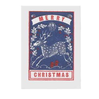 LETTERPRESS CARD DEER