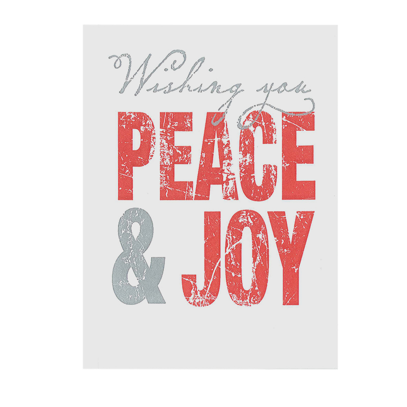 LETTERPRESS CARD PEACEJOY PACK
