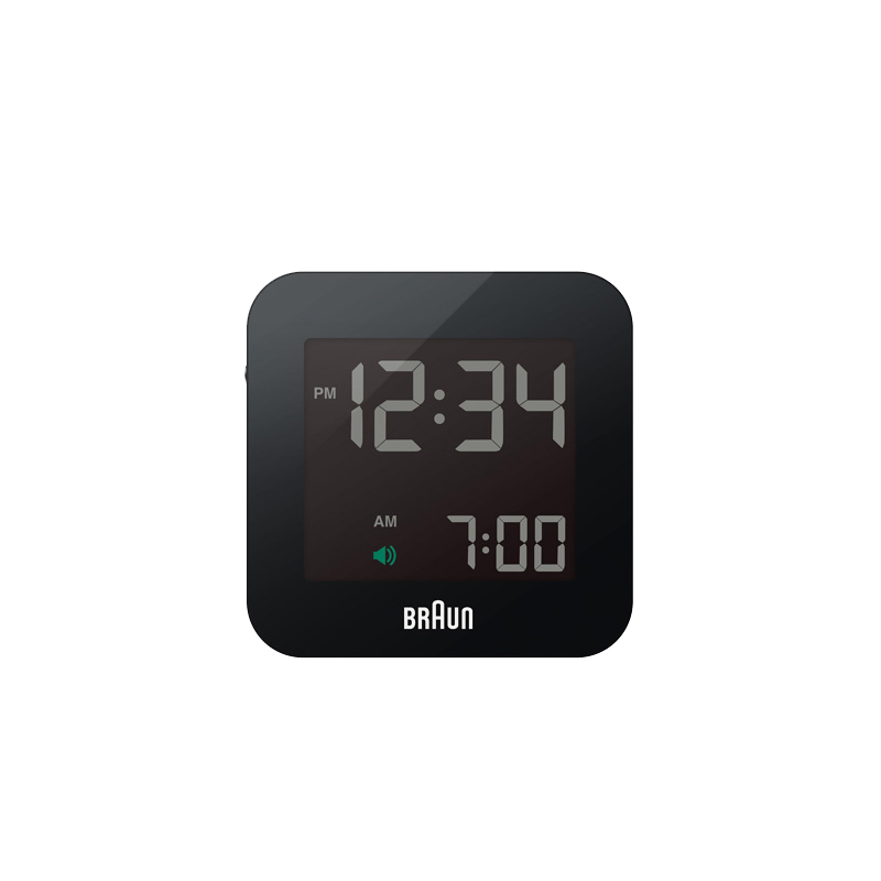 BRAUN DIGITAL CLOCK SMALL BLACK
