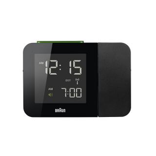 BRAUN PROJECTION CLOCK BLACK