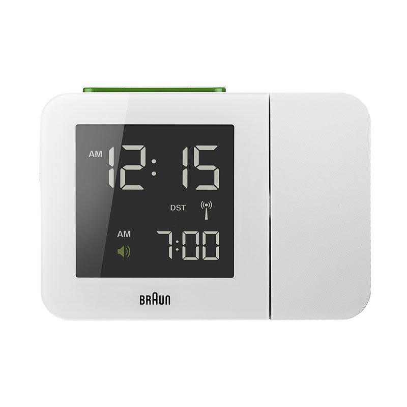 BRAUN PROJECTION CLOCK WHITE