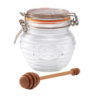 KILNER HONEY POT & DRIZZLER 0.4L