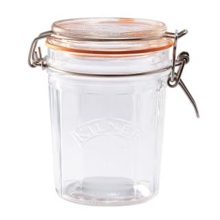 KILNER FACETTED CLIPTOP JAR 0.45L