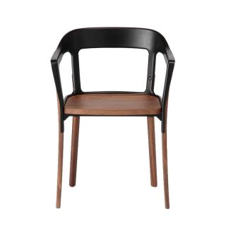 STEELWOOD CHAIR WALNUT/BLACK SD742