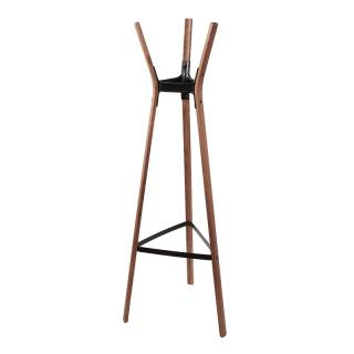 AC602 STEELWOOD COATSTAND WALNUT / BLACK