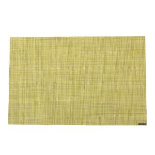 MINI BASKET WEAVE PLACEMAT LEMON #0025