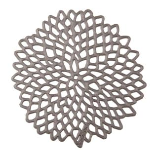 PRESSED DAHLIA COASTER GUNMETAL #0403