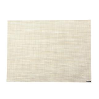 CHILEWICH MINI BASKET WEAVE PLACEMAT PARCHMENT #0025