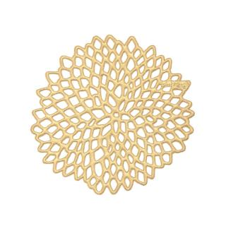 CHILEWICH DAHLIA COASTER BRASS 100360
