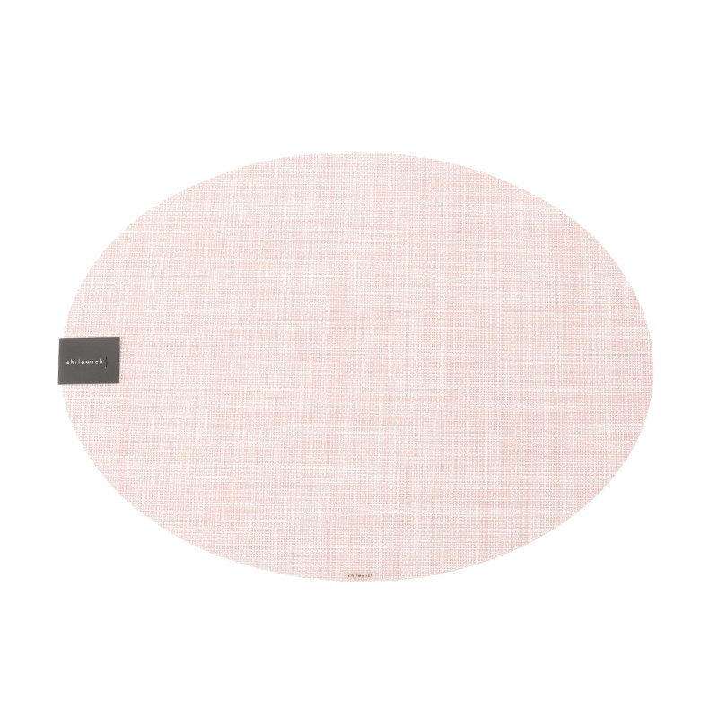 MINI BASKET WEAVE OVAL PLACEMAT BLUSH