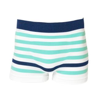 BOXER #11 NAVY GREEN STRIPE