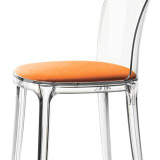 VANITY CHAIR TRANSP ORANGE SB