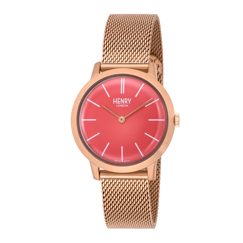 HENRY LONDON ICONIC PINKGOLD RED