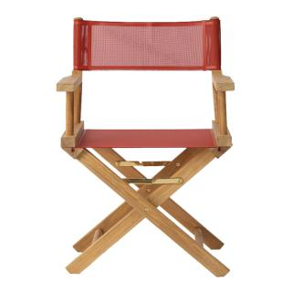 TEAK DIRECTOR'S CHAIR RED