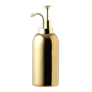 KIKKERLAND CERAMIC SOAP DISPENSERS GOLD