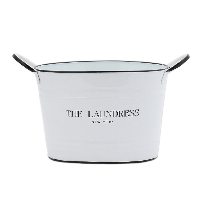 THE LAUNDRESS WASHING BACKET L WHITE