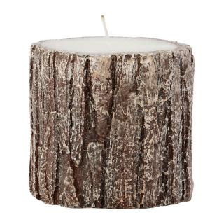 ITS ABOUT ROMI CANDLE OAK WOOD ROUND GLITTER H95