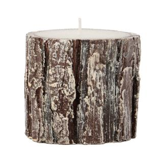 ITS ABOUT ROMI CANDLE OAK WOOD ROUND GLITTER H75