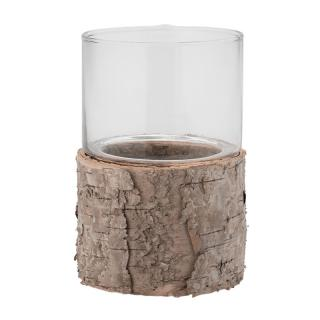 ITS ABOUT ROMI TEALIGHT HOLDER BIRCH WITH GLASS SMALL