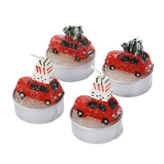 ITS ABOUT ROMI TEALIGHT CAR WITH TREE SET OF 4
