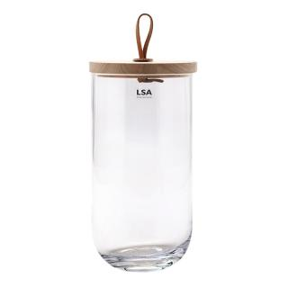 LSA/IVALO CONTAINER & ASH LID 29.5CM CLEAR
