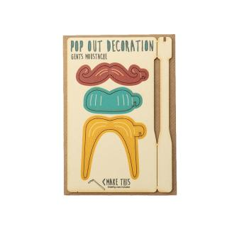 POPOUT GENTS MOUSTACHE