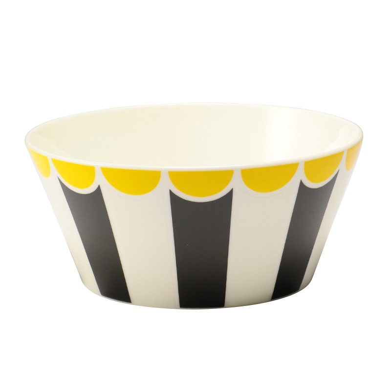 ALESSI BONE CHINA BOWL STRIPE L