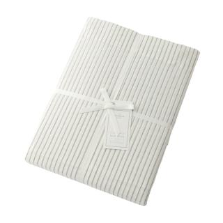 DOUBLE STRIPE DUVET COVER IVOLY DOUBLE