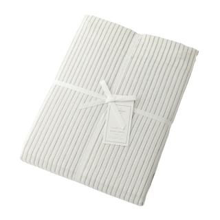 DOUBLE STRIPE DUVET COVER IVOLY QUEEN
