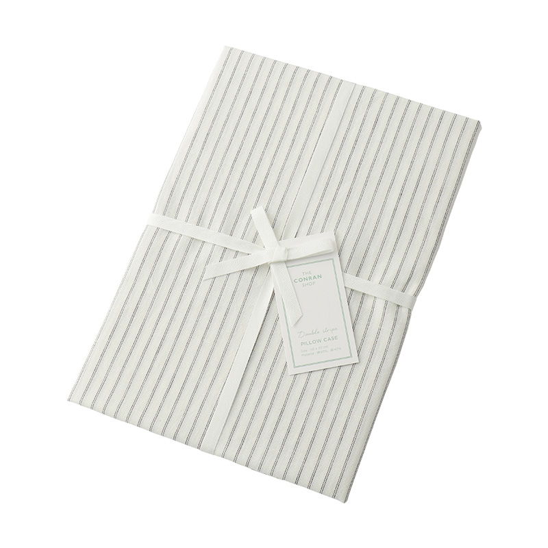 DOUBLE STRIPE PILLOW CASE IVOLY