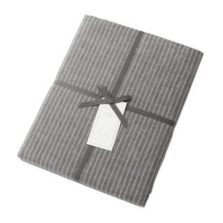 DOUBLE STRIPE DUVET COVER GREY SINGLE