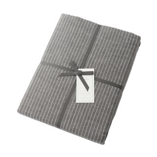 DOUBLE STRIPE DUVET COVER GREY DOUBLE