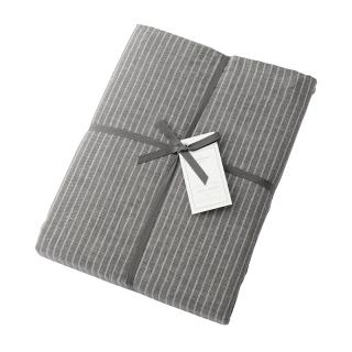 【CLEARANCE】 DOUBLE STRIPE DUVET COVER GREY QUEEN