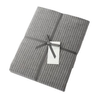 DOUBLE STRIPE DUVET COVER GREY KING