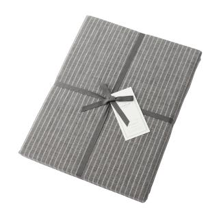 DOUBLE STRIPE FIT SHEET GREY DOUBLE