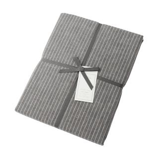 DOUBLE STRIPE FIT SHEET GREY QUEEN