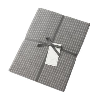 DOUBLE STRIPE FIT SHEET GREY KING