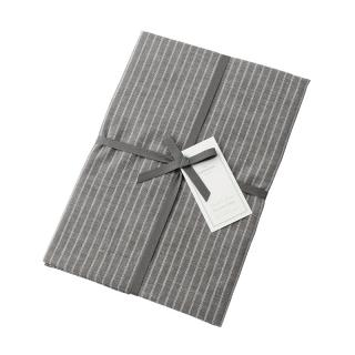 DOUBLE STRIPE PILLOW CASE GREY