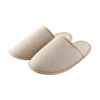 ORIGINAL LINEN COTTON SLIPPERS L BEIGE