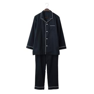 ORIGINAL COTTON SATIN PYJAMA M NAVY