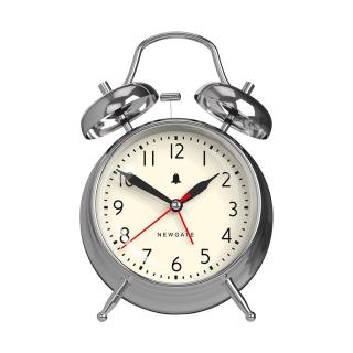NEWGATE NEW COVENT GARDEN ALARM CLOCK CHROME