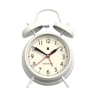 NEWGATE NEW COVENT GARDEN ALARM CLOCK LINEN WHITE
