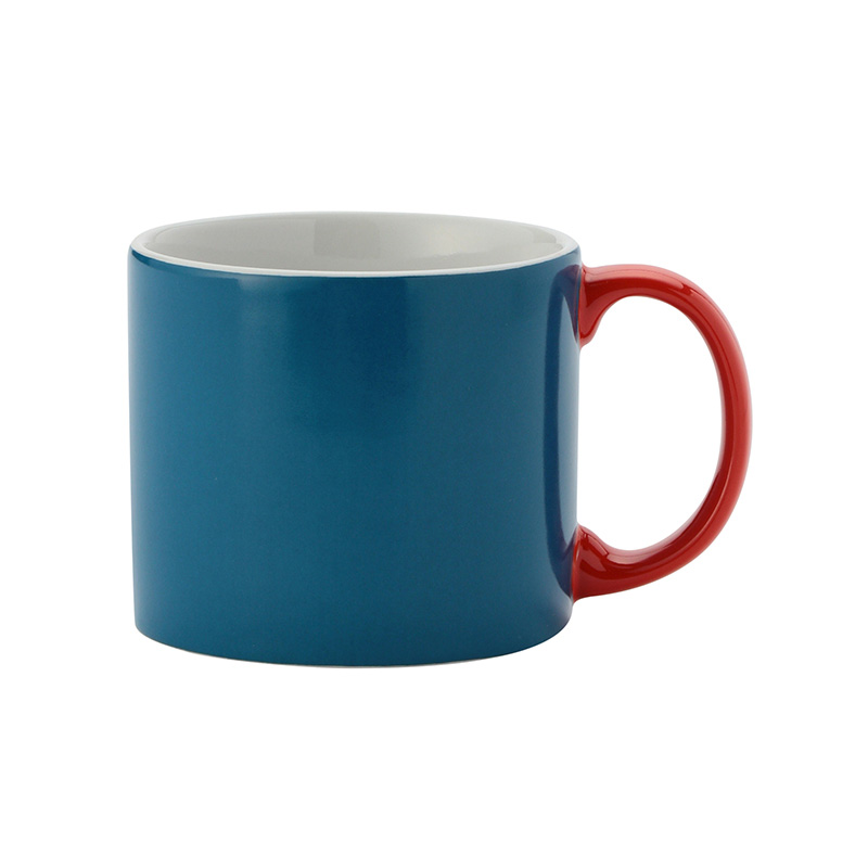 MY MUG M BLUE HANDLE RED