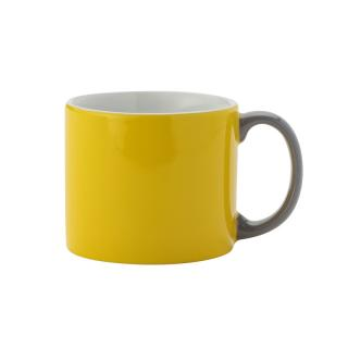 MY MUG M YELLOW HANDLE GREY