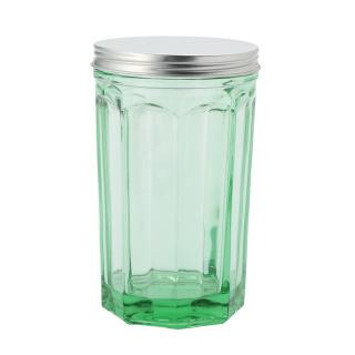 JAR WITH LID LARGE TRANSPARENT G.