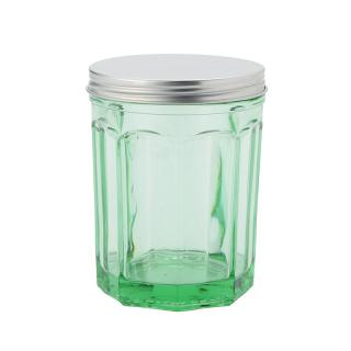 JAR WITH LID MEDIUM TRANSPARENT G.