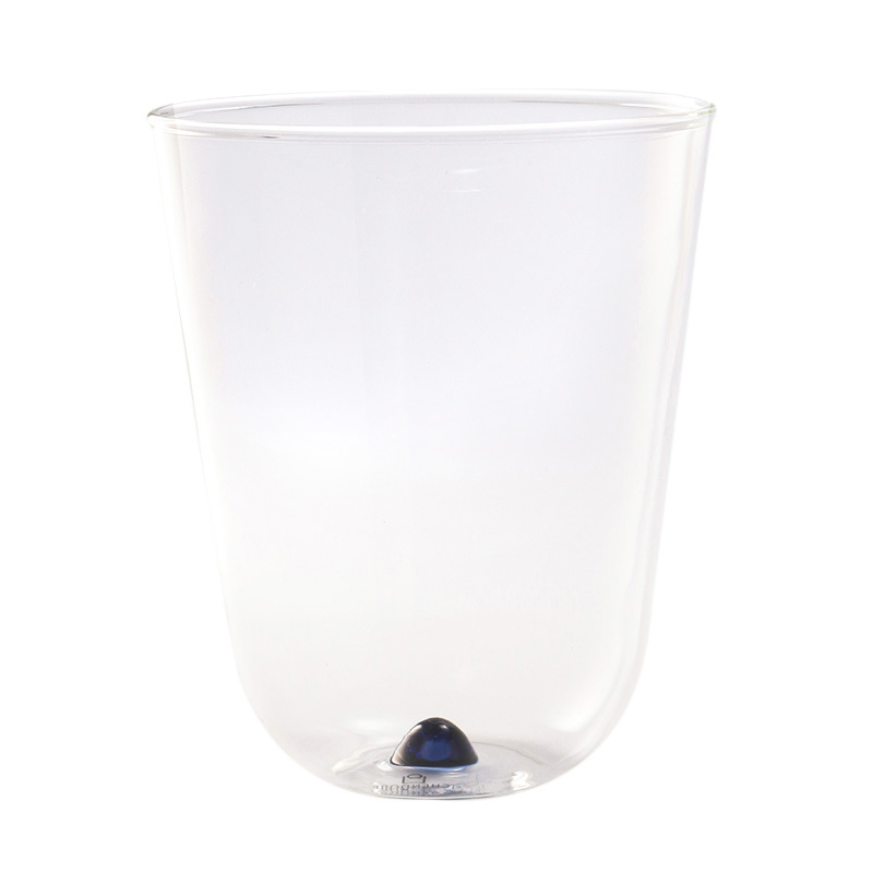 BAMBUS WATER GLASS DARK BLUE